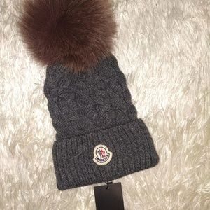 Moncler Women's Gray Hat Nwt Casual